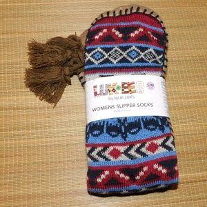 LUK EES by MUK LUKS Women's Slipper Socks S/M 5/7